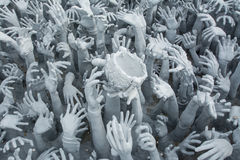 Devil's Hands from Hell in Rongkhun Temple or White Temple in Chiangrai, Thailand Royalty Free Stock Images