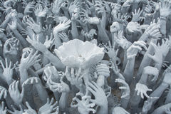 Devil's Hands from Hell in Rongkhun Temple or White Temple in Chiangrai, Thailand Stock Photography