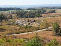 Devil& x27; s Hol op het Gettysburg-Slagveld stock foto
