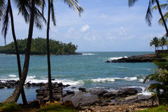 French Guiana Devils island. Devils island in French Guiana. The island was used as a penal colony from 1852.  The French government stopped sending prisoners to Royalty Free Stock Images