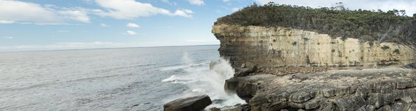 The Fossil Bay Tasmania Panorama Royalty Free Stock Photos