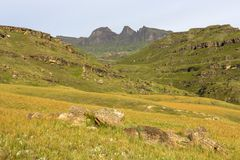Devil`s Knuckles from Bushmansneck. Drakensberg South Africa Royalty Free Stock Photo