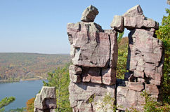 Devil's Lake State Park, Wisconsin. Devil's Doorway on the East Bluff at Devil's Lake State Park, Wisconsin, USA stock photography