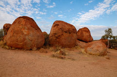Devil's Marbles in Australia Royalty Free Stock Photos