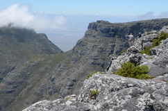Devil`s Peak from Table Mountain, Cape Town Royalty Free Stock Photos