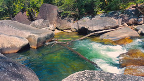 Devil`s pool or Babinda Boulders Royalty Free Stock Photography
