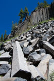 Devil's Postpile columns Royalty Free Stock Images