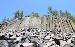Devil's Postpile National Monument, California Royalty Free Stock Photos