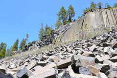 Devil's Postpile National Monument, California royalty free stock image