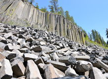 Devil's Postpile National Monument, California royalty free stock images