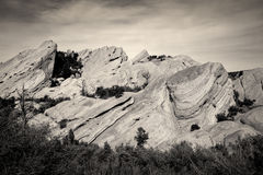 Devil's Punchbowl in Southern California in Black and White Royalty Free Stock Image