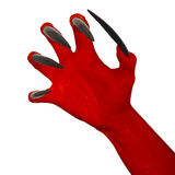 The devil's red claw. Stock Images