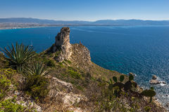 Devil's Saddle View On Cagliari, Sardegna Royalty Free Stock Photography