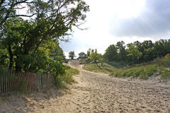 Devil's slide. Dunes state park, Indiana in lthe late summer Stock Photo