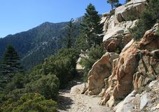 Devil's Slide Trail Geology. Geology on a steep mountain trail, California Stock Photos