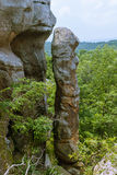 Devil's Smokestack - erosion quirks in the Garden of the Gods, Illinois. Devil's Smokestack in the Garden of the Gods Wilderness in Shawnee National Forest Stock Photo