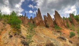 Devil' s-Stadt/Djavolja Varosh/, Serbien - natürliches Phänomen, Panorama lizenzfreie stockfotografie