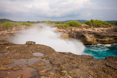 Devil's tear, Nusa Lembongan island, Indonesia Royalty Free Stock Images