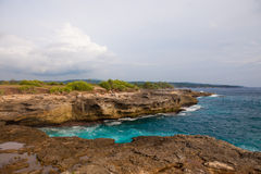 Devil's tear, Nusa Lembongan island, Indonesia Royalty Free Stock Photo