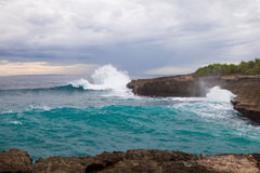 Devil's tear, Nusa Lembongan island, Indonesia Royalty Free Stock Photography