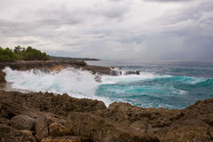 Devil's tear at Nusa Lembongan island, Indonesia Royalty Free Stock Images
