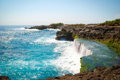 Devil's tears at Nusa Lembongan island, Indonesia Royalty Free Stock Photo