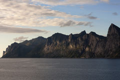 Devil's teeth, rocks on the island of Senja, Northern Norway.  Royalty Free Stock Photos