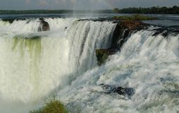 Devil´s throat. Majestic Devil´s Throat at Iguazu Waterfalls in northern Argentina Royalty Free Stock Images