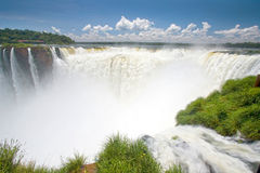 Devil's Throat, Iguazu falls, Argentina, South America. Devil's Throat on a beautiful sunny day, Iguazu falls, Argentina, South America stock image