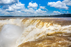 Devil's Throat at Iguazu Falls, Puerto Iguazu, Argentina Stock Image