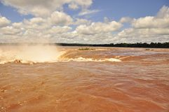 Devil's Throat on Iguazu waterfall. Argentinian side Royalty Free Stock Photography