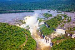 Devil's Throat  waterfall of the Iguazu Falls Stock Photo