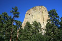 Devil's tower Royalty Free Stock Images