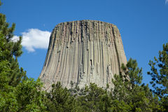 Devil's Tower. Rising into the sky royalty free stock image