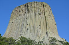 Devil's Tower. Viewing Devil's Tower from the base Royalty Free Stock Photo