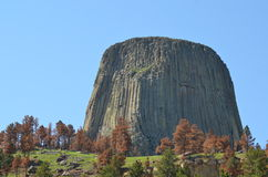 Devil's Tower. Viewing Devil's Tower from a distance Stock Image