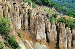 Devil's Town. Is a peculiar rock formation, located in south Serbia, EU. These formations were created by strong erosion of the soil that was scene of intense Stock Images