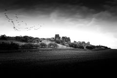 The devil's wall near the town of Weddersleben, Germany Stock Images