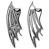 Devil's wings set Stock Photos