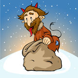 Devil with sack - vector illustration Stock Images
