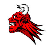 Devil satan head mascot Stock Image
