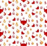 Devil seamless pattern Stock Photos