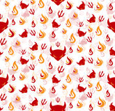 Devil seamless pattern Royalty Free Stock Photos