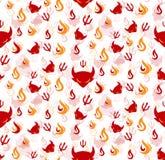 Devil seamless pattern Royalty Free Stock Photos