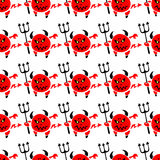 Devil seamless pattern Stock Images