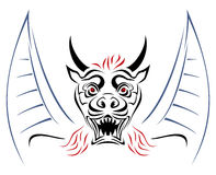 Devil on sketch Royalty Free Stock Images