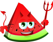 Devil slice of watermelon Royalty Free Stock Photos
