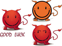 Devil smile - good luck Royalty Free Stock Image