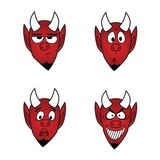 Devil smiles icon set, vector design elements 1 Stock Image