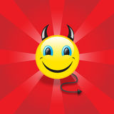 Devil smiley Royalty Free Stock Photography